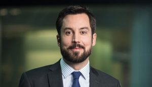 Eoghan Murphy, Irish junior finance minister, poses for a photograph following a Bloomberg Television interview in London, U.K., on Thursday, Nov. 3, 2016. Ireland is home to about 500international finance companies, ranging from giants such as Morgan Stanley and Citigroup to startups with a handful of employees. Photographer: Simon Dawson/Bloomberg